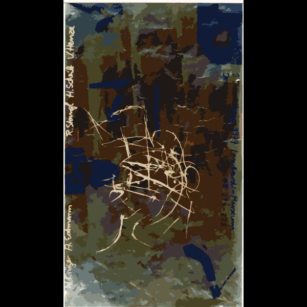 Abstract exhibit ad