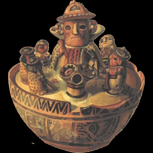 Old American vase