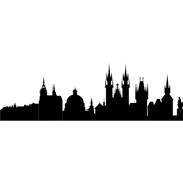 Prague silhouette vector illustration