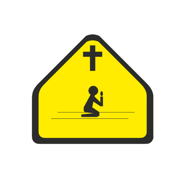 Prayer zone sign vector clip art