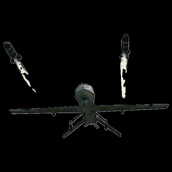 Predator Firing Missile Vector