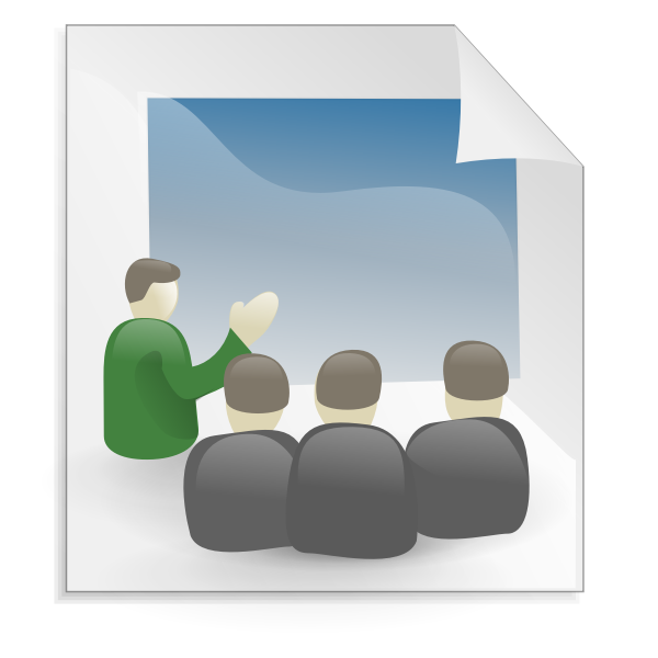 Business presentation icon vector image