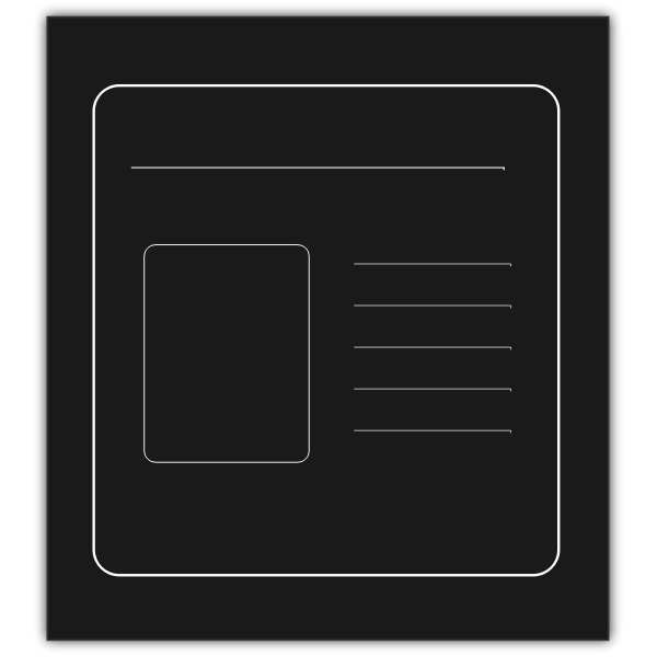 Monochrome presentation icon vector graphics
