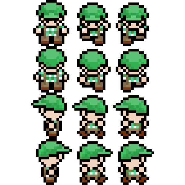 Pixel character image