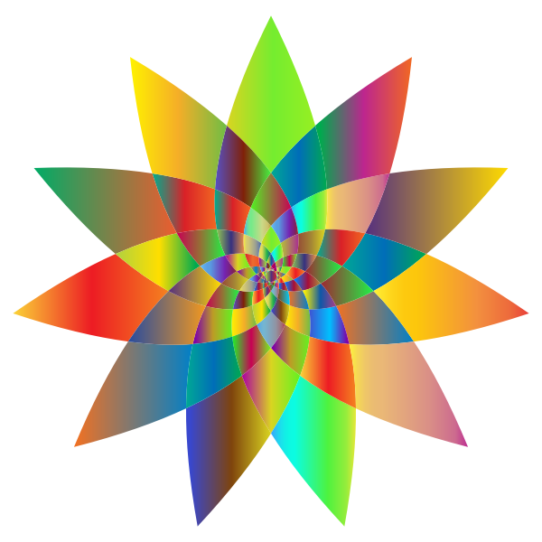 Prismatic Abstract Flower Line Art 2