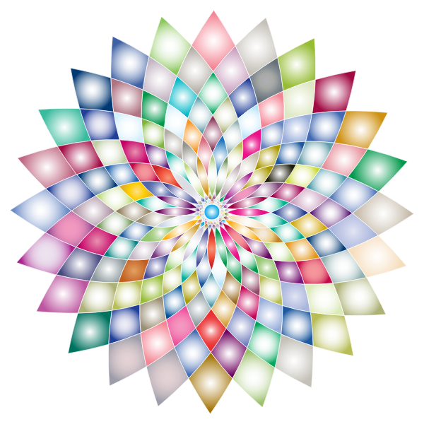 Prismatic Abstract Flower Line Art II 2