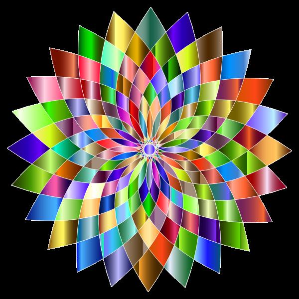 Prismatic Abstract Flower Line Art II 6