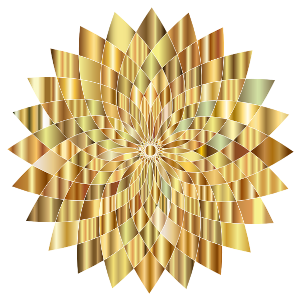 Prismatic Abstract Flower Line Art II 7