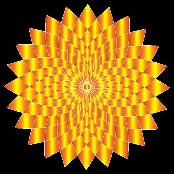 Prismatic Abstract Flower Line Art II 8