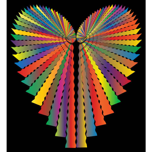Prismatic Abstract Heart 2