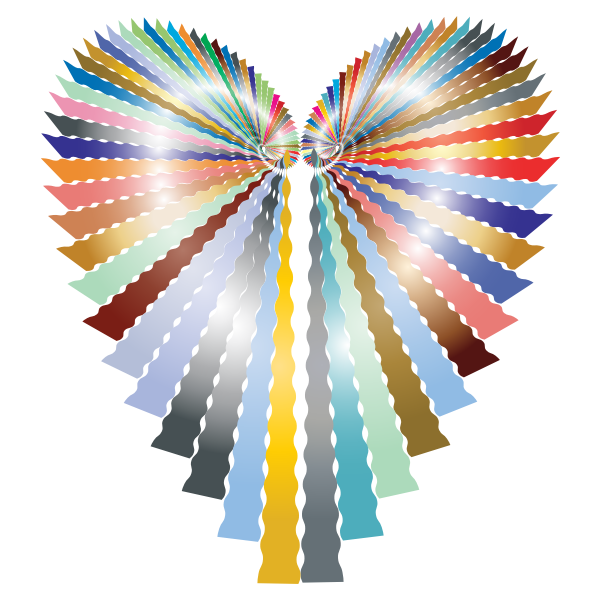 Prismatic Abstract Heart No Background