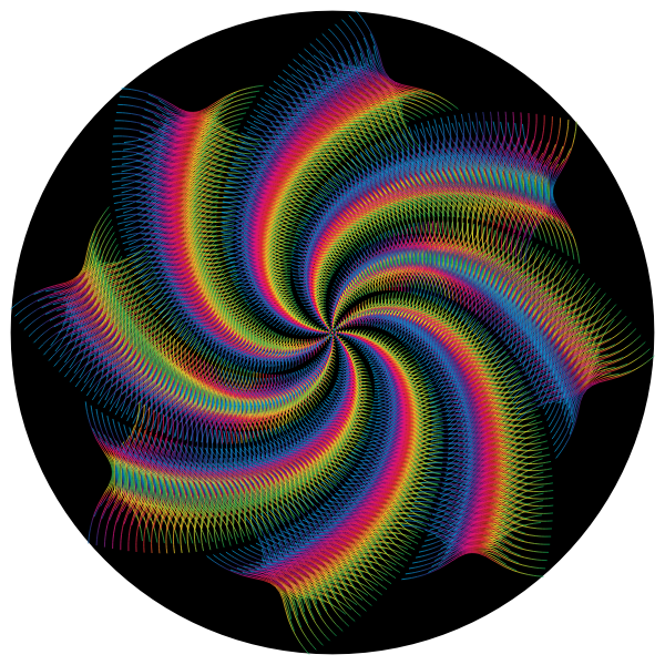 Prismatic Abstract Line Art Cyclone