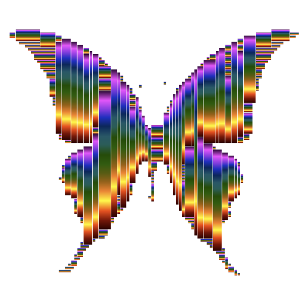 Prismatic Abstract Modern Art Butterfly 11