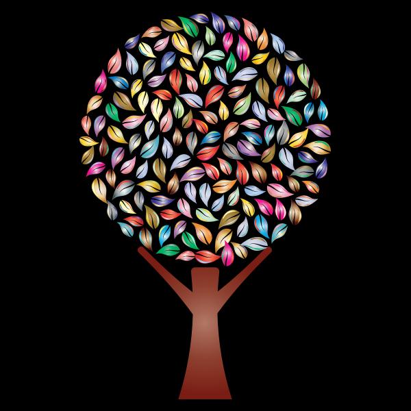 Colorful prismatic plant