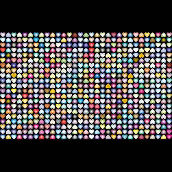 Prismatic Alternating Hearts Pattern Background 4