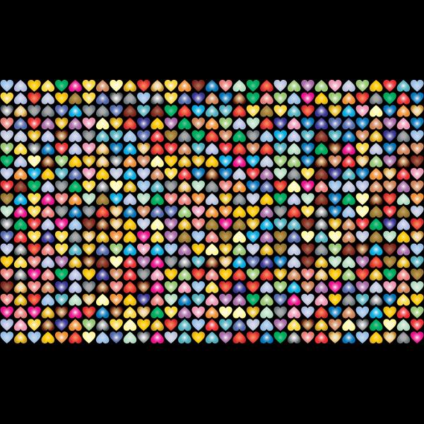 Prismatic Alternating Hearts Pattern Background 5