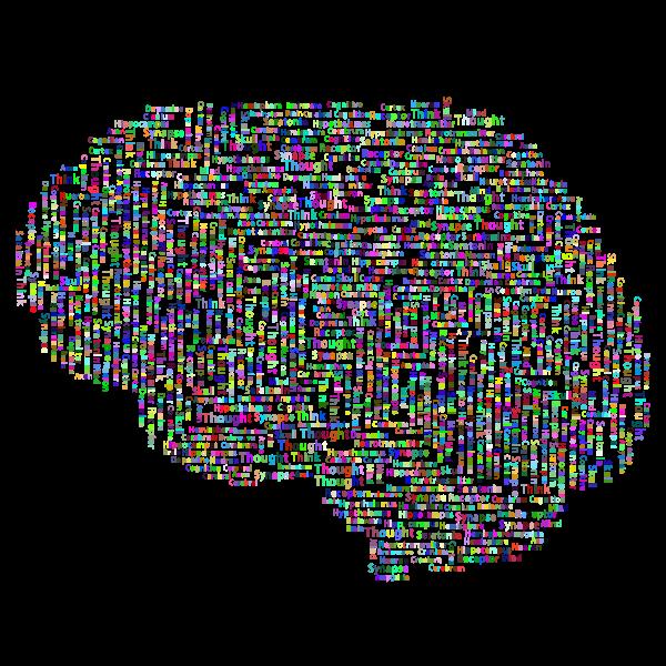 Prismatic Brain Word Cloud