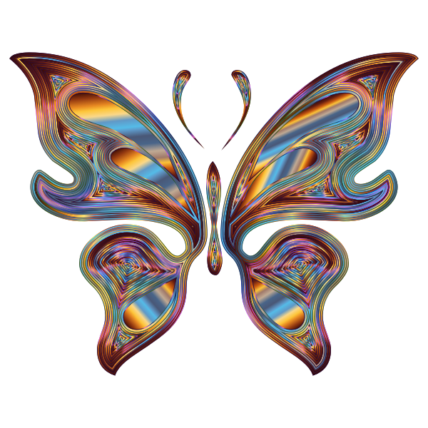 Prismatic Butterfly 13 Variation 6 No Background