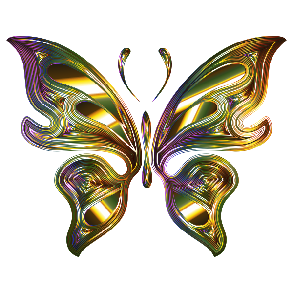 Prismatic Butterfly 14 No Background