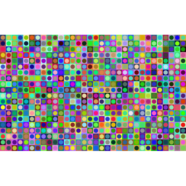 Prismatic Circles And Squares Checkerboard Pattern