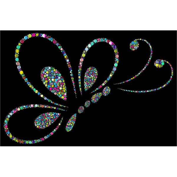 Prismatic Circles Butterfly Line Art 2 4 With Background