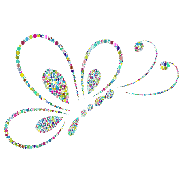 Prismatic Circles Butterfly Line Art 2 4