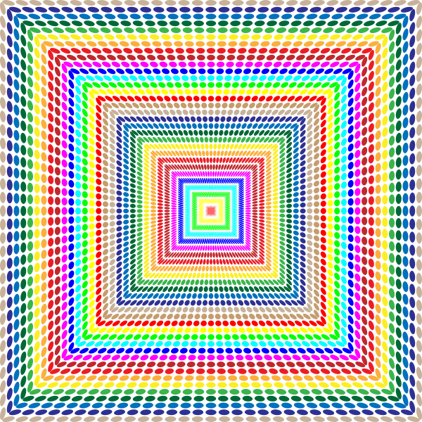 Prismatic Circles Hallway Or Pyramid