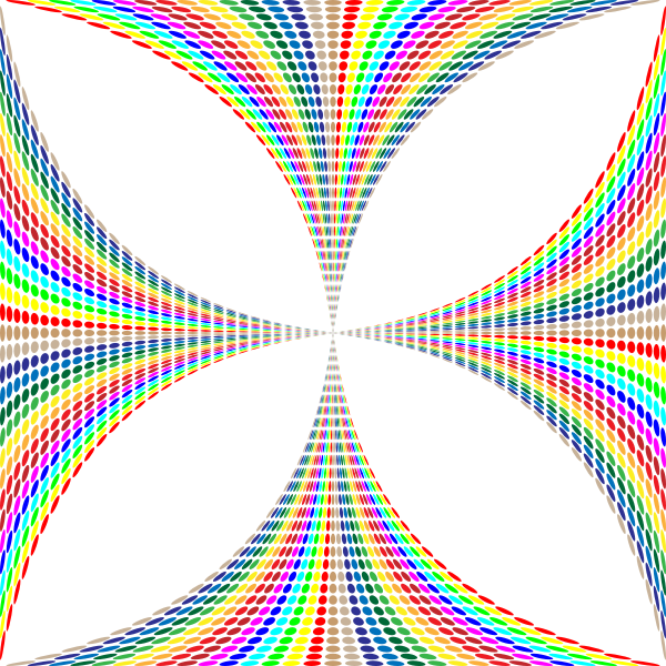 Prismatic Circles Maltese Cross