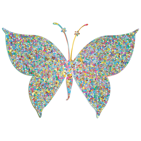 Prismatic Colorful Tiled Butterfly 2