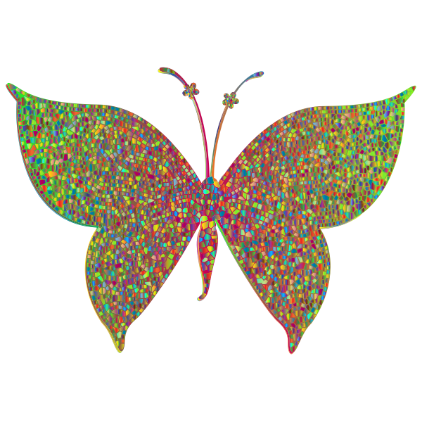 Prismatic Colorful Tiled Butterfly 3