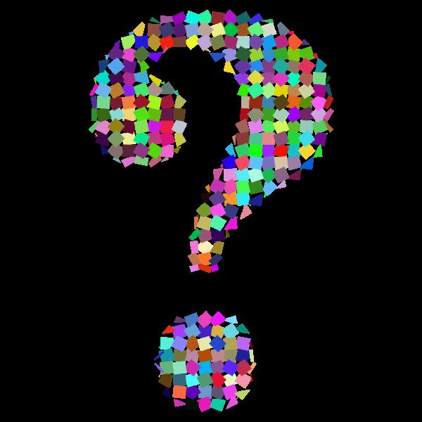 Prismatic Confetti Question Mark