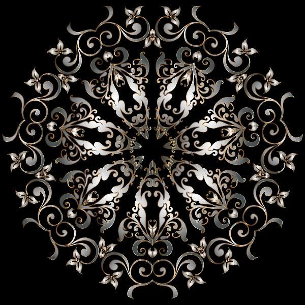Prismatic Floral Design 6