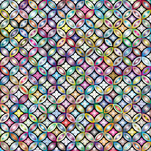 Prismatic floral design pattern
