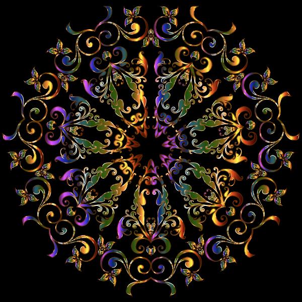 Prismatic Floral Design