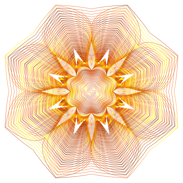 Prismatic Floral Line Art 10 No Background