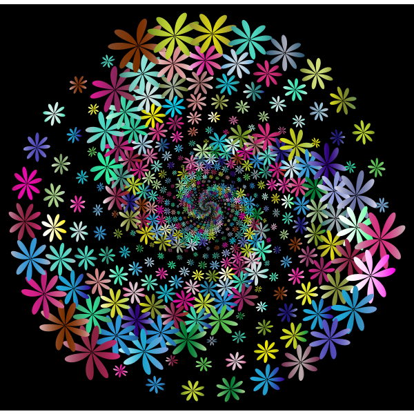 Prismatic Floral Vortex 4 With Background