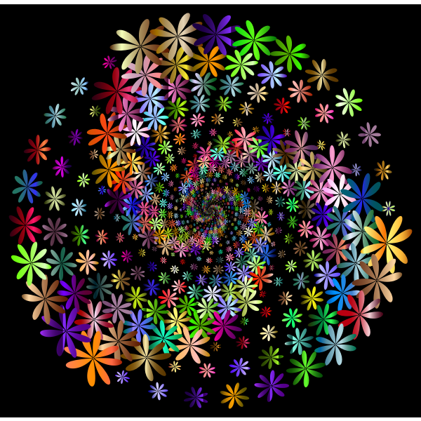 Prismatic Floral Vortex 5 With Background