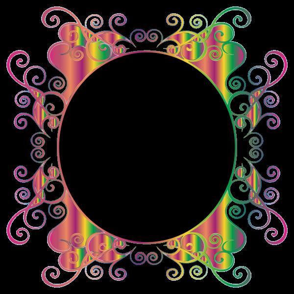 Prismatic Flourish Frame 3 No Background