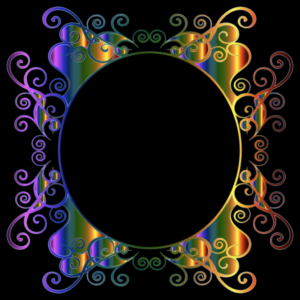 Prismatic Flourish Frame