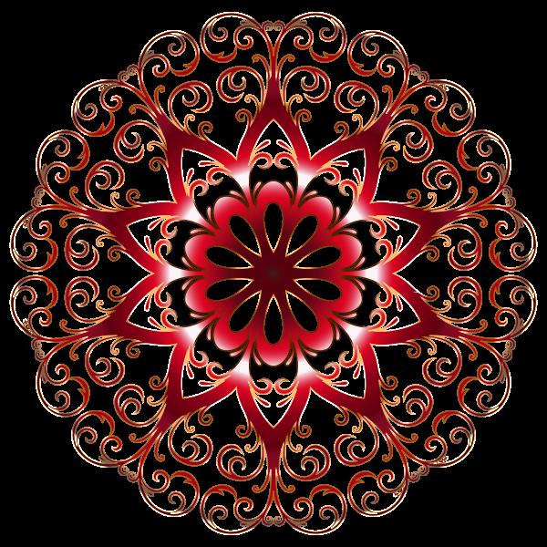 Prismatic Flourish Snowflake 3 No Background