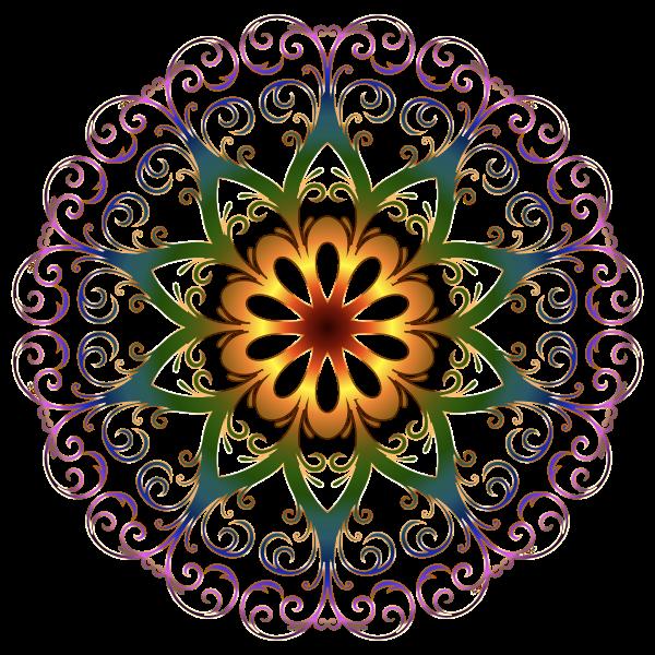 Prismatic flourish snowflake