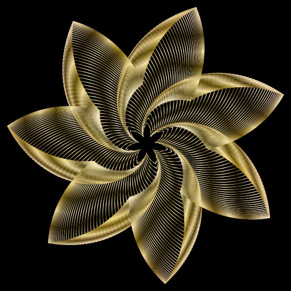 Prismatic Flower Line Art 10
