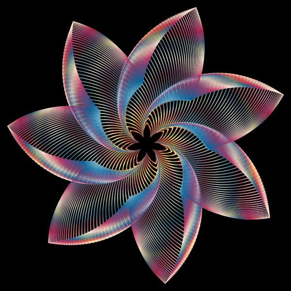 Prismatic Flower Line Art 3