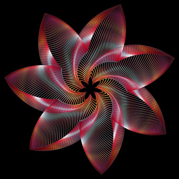 Prismatic Flower Line Art 4