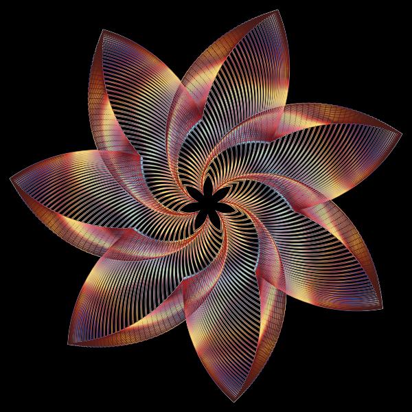 Prismatic Flower Line Art 5