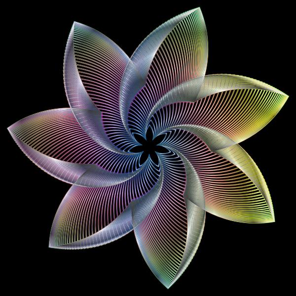 Prismatic Flower Line Art 7