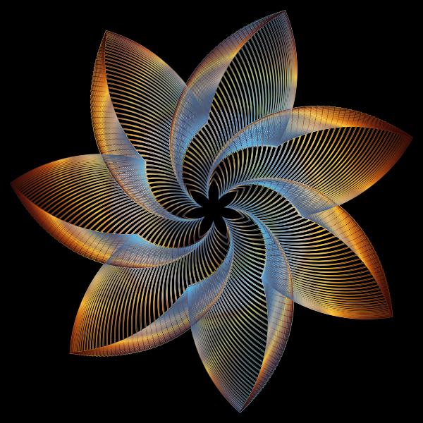 Prismatic Flower Line Art