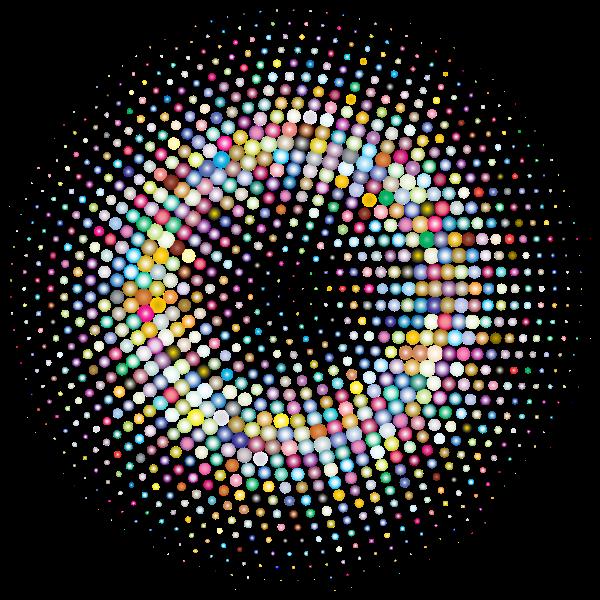 Prismatic colorful circle