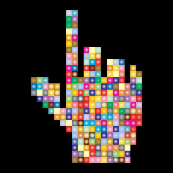 Prismatic Hand Cursor Pointer Grid 2