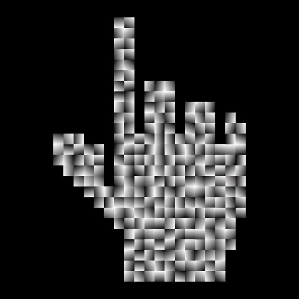 Prismatic Hand Cursor Pointer Grid 6